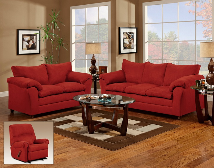 Amazing of Living Room Sofa And Loveseat Sets Red Couch And Loveseat Living Room For The Home Pinterest
