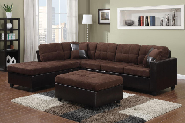 Amazing of Microfiber Leather Sectional Sofa Coaster Chocolate Microfiber Leather Sectional Sofa Reversible Chaise