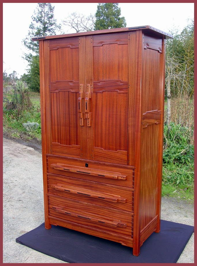 Amazing of Mission Style Armoire Wardrobe Voorhees Craftsman Mission Oak Furniture Item Retired