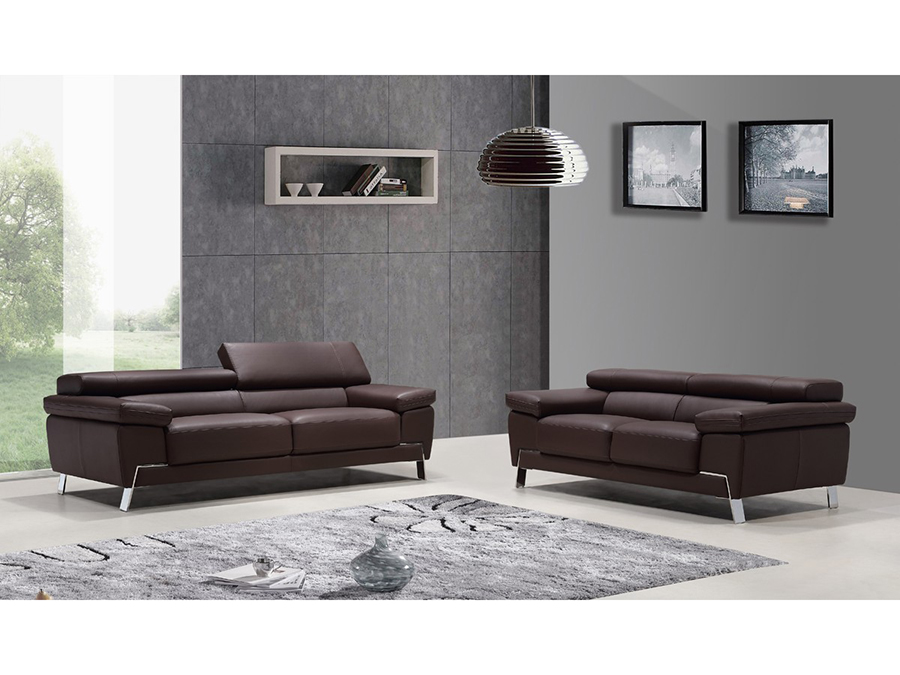 Amazing of Modern Brown Leather Sofa Wanda Modern Brown Leather Sofa Set