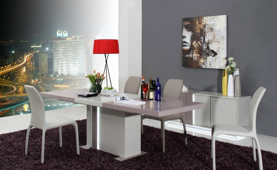 Amazing of Modern Extendable Dining Table Extendable Modern Dining Table Vg43 Modern Dining