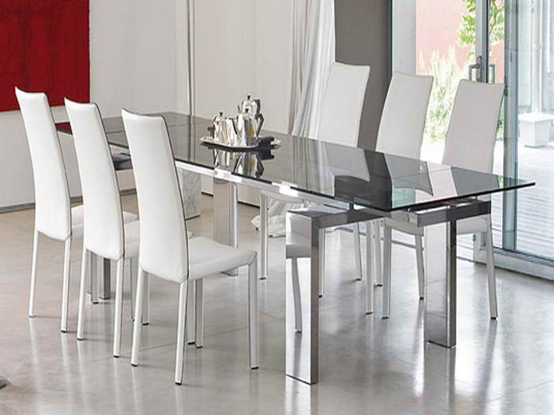 Amazing of Modern Glass Dining Table Set Modern Glass Dining Room Tables With Worthy Modern Dining Table