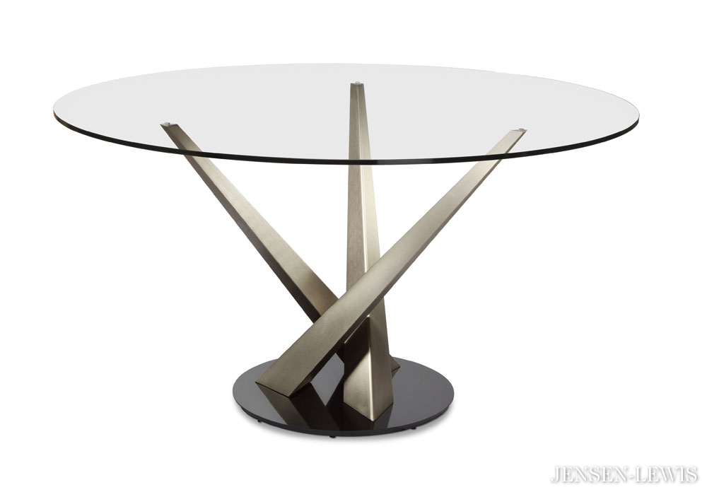 Amazing of Modern Round Dining Table Elite Crystal Round Dining Table 394rnd 48 Jensen Lewis New York