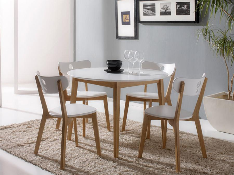 Amazing of Modern Round Dining Table Set Modern White Round Dining Table Set For 4 Eva Furniture