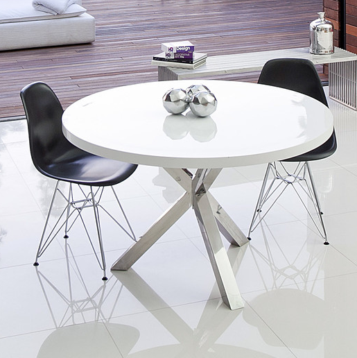 Amazing of Modern Round White Dining Table Contemporary White Dining Table Modern Icon Round The