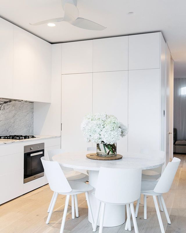 Amazing of Modern White Kitchen Table Best 25 White Dining Table Ideas On Pinterest White Dining Room