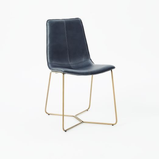 Amazing of Navy Blue Leather Dining Chairs Best 25 West Elm Dining Chairs Ideas On Pinterest Mid Century