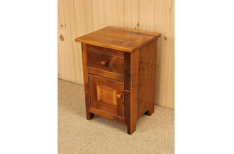 Amazing of Nightstand With Door And Drawer Amish Adirondack Real Wood Night Stands New York