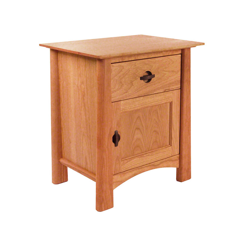 Amazing of Nightstand With Door And Drawer Cherry Moon 1 Drawer Night Stand With Door Bedroom Solid Wood
