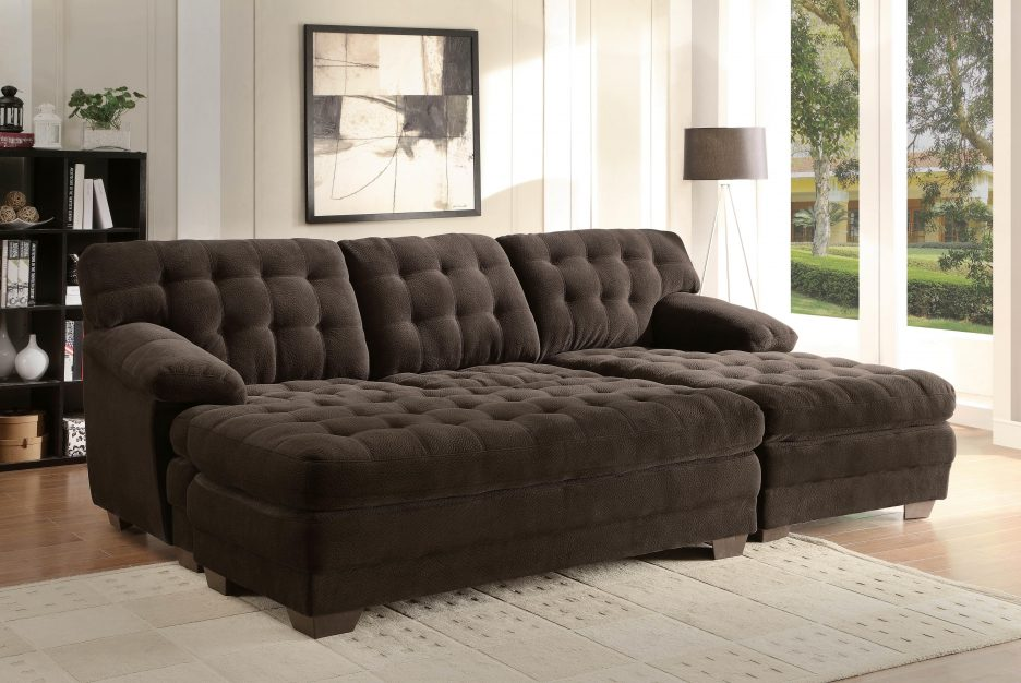 Amazing of Oversized Sectionals With Chaise Living Room Extra Long Sectional Sofa With Tufted Back Using