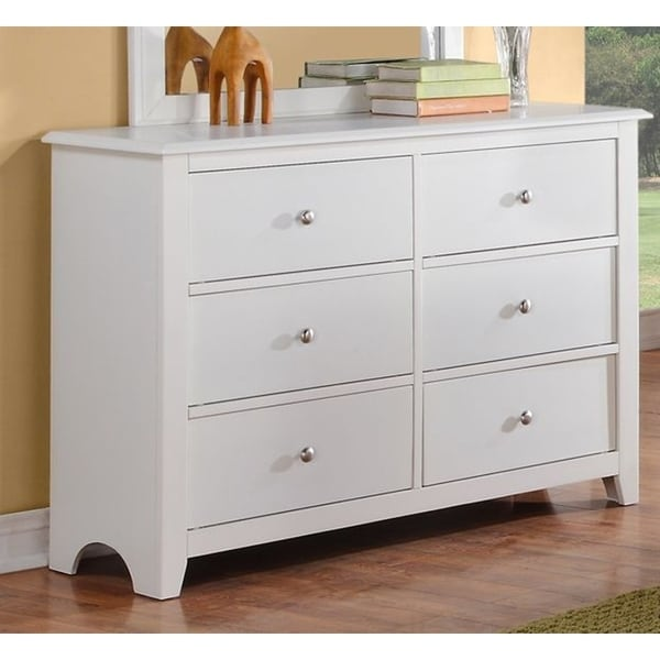 Amazing of Pine 6 Drawer Dresser Shop Pine Wood 6 Drawer Dresser With Silver Knobs White Free