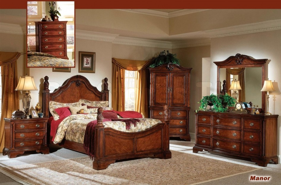 Amazing of Queen Bedroom Set With Armoire Mahogany Bedroom Furniture Image How To Clean Mahogany Bedroom