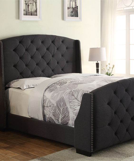 Amazing of Queen Headboard And Frame Set Perfect Queen Headboard And Footboard Sets Look At This Charcoal