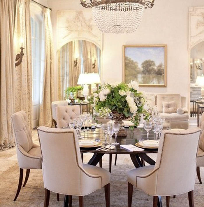 Amazing of Round Dining Room Tables Good Round Dining Room Tables For 6 With Dining Room Sets Round