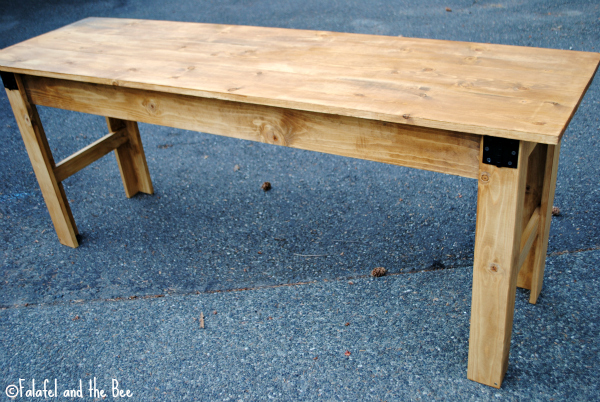 Amazing of Simple Desk Plans Ana White Narrow Farmhouse Table Computer Desk Diy Projects