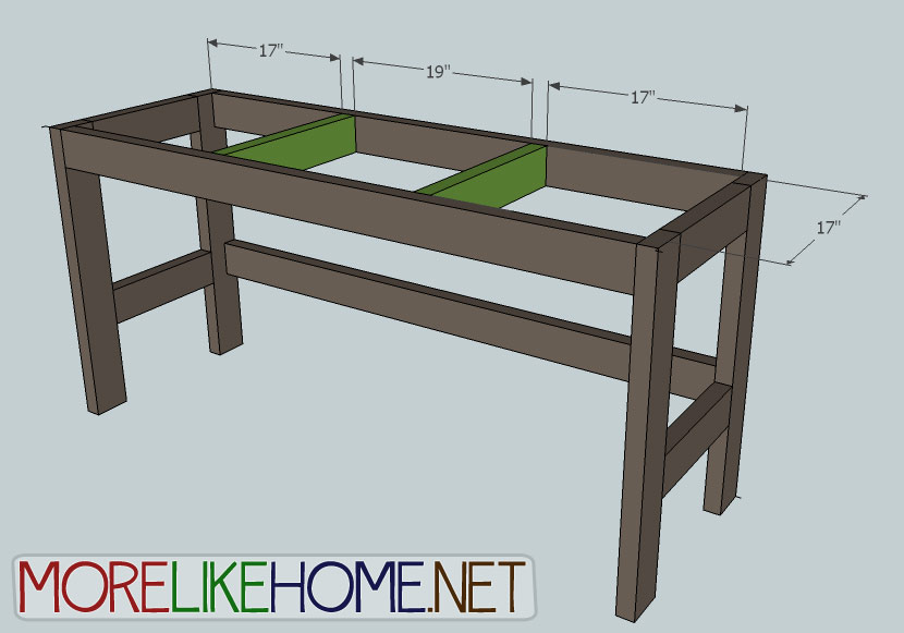 Amazing of Simple Desk Plans More Like Home Day 2 Build A Casual Desk With 2x4s