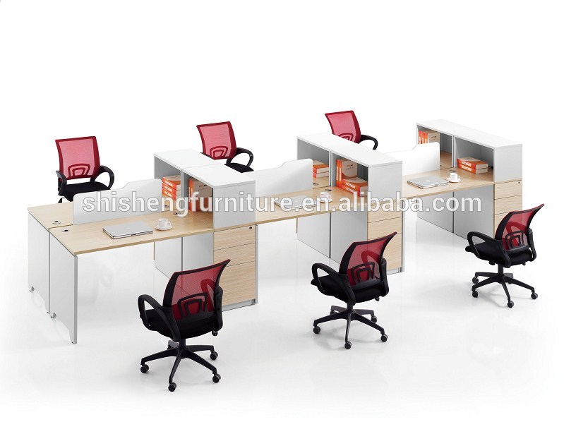 Amazing of Simple Workstation Desk Simple Design 6 Person Workstation With Desk Top Screen Buy