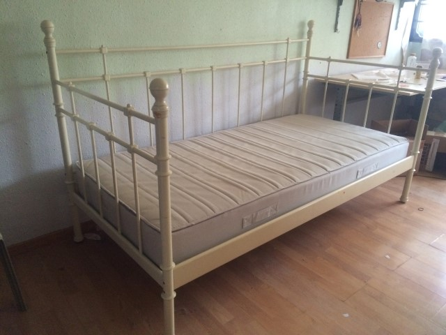 Amazing of Single Wooden Bed Frames Ikea Used Ikea Single Bed Frame With Mattress In Good Condition For