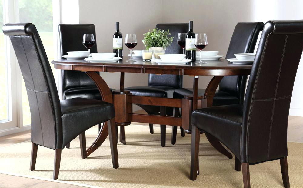 Amazing of Small Dark Wood Dining Table Dining Table Oval Dark Wood Dining Table Solid Sets And Chairs