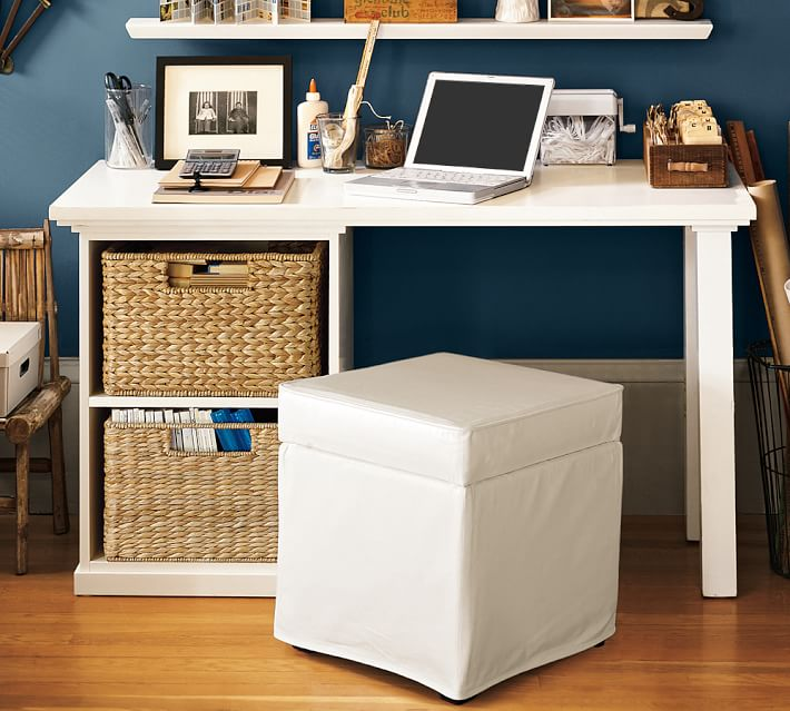 Amazing of Small Desk With Storage Bedford Small Desk Pottery Barn
