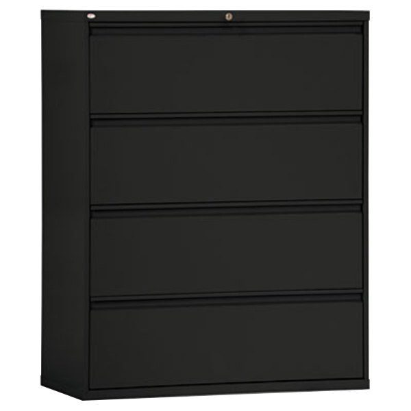 Amazing of Small Lateral File Cabinet Alera Alelf4254bl Black Four Drawer Metal Lateral File Cabinet