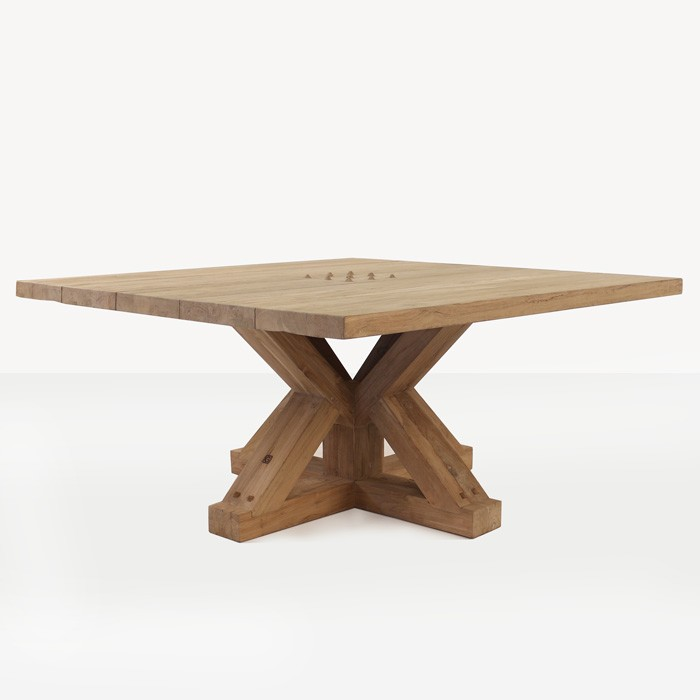 Amazing of Square Dining Table Alex Reclaimed Teak Square Outdoor Dining Table Teak Warehouse