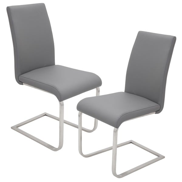 Amazing of Steel Dining Chairs Contemporary Foster Stainless Steel Dining Chairs Set Of 2
