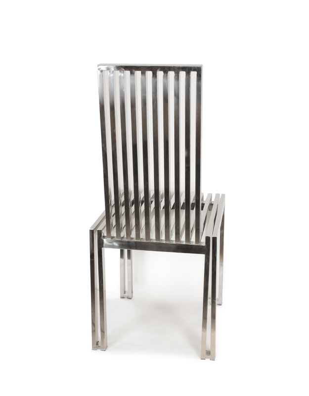 Amazing of Steel Dining Chairs The Polished Stainless Steel Dining Chair Fhc08ss Dining