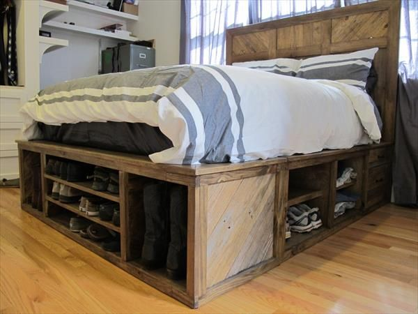 Amazing of Tall King Size Bed Frame 9 Space Making Wood Storage Beds Diy Pallet Bed Pallets And Storage