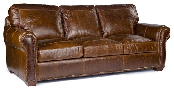 Amazing of Top Grain Leather Sofa Anchor Bay Collection Top Grain Leather Sofa Pecan Alligator