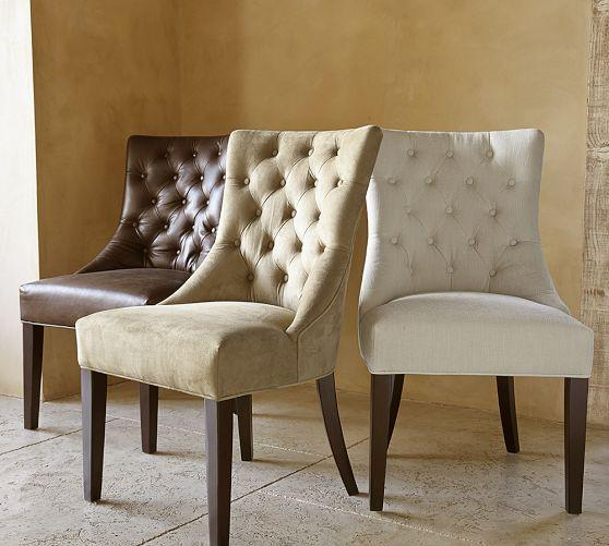 Amazing of Tufted Dining Chair Various Colors Suede Button Tufted Chair