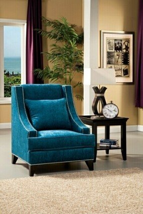 Amazing of Turquoise Blue Accent Chair Upholstered Accent Chairs With Arms Foter