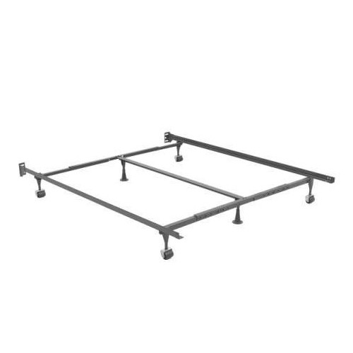Amazing of Twin Box Spring Only Deluxe Adjustable Keyslot Metal Bed Frame Humble Abode