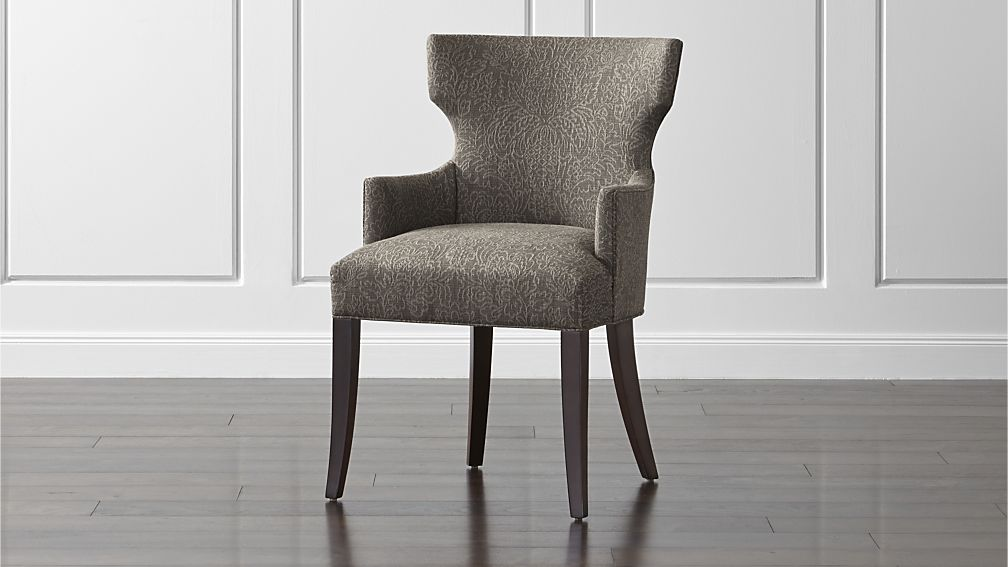 Amazing of Upholstered Dining Chairs With Arms Sasha Upholstered Dining Arm Chair Crate And Barrel