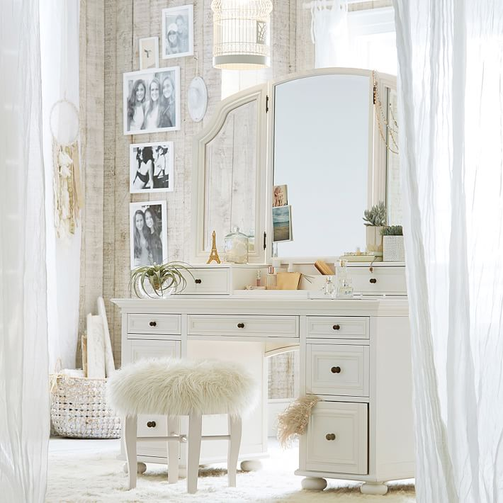 Amazing of Vanity With Mirror And Chair Chelsea Vanity Pbteen