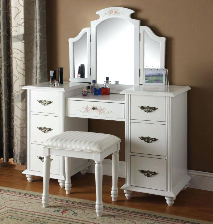 Amazing of Vanity With Mirror And Chair Various Vanity Mirror And Chair Set Elegant Vanity Mirror With
