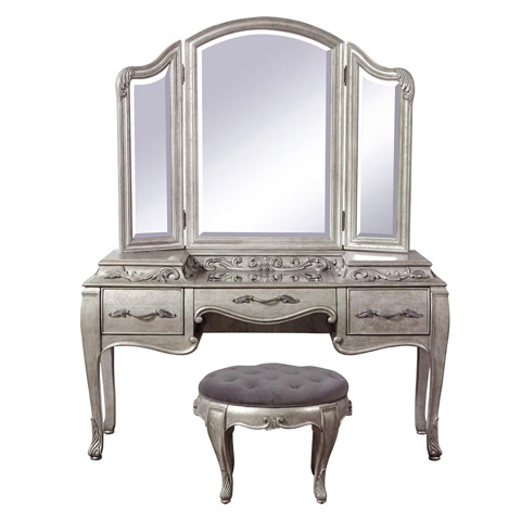 Amazing of Vanity With Mirror And Stool Rhianna Vanity With Mirror And Stool 788134 Pulaski Vanities