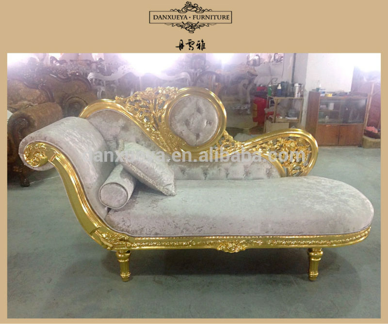 Amazing of White And Gold Chaise Lounge Gold Throne Oak Wood Carved Chaise Loungeliving Room Sofa Set