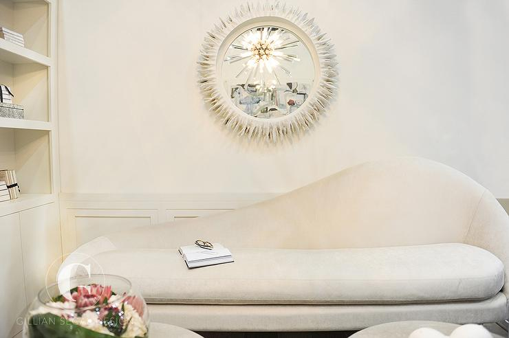 Amazing of White And Gold Chaise Lounge White And Gold Office With Marble Fireplace Contemporary Den