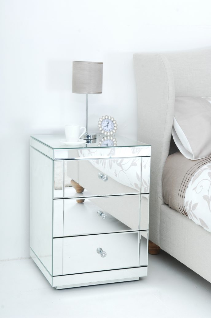 Amazing of White And Silver Nightstand Bedroom Nightstand Dark Brown Night Tables Round Glass
