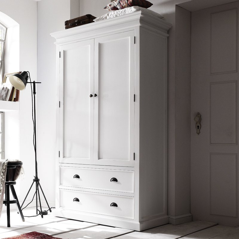 Amazing of White Armoire With Drawers Beachcrest Home Sroda Armoire Reviews Wayfair