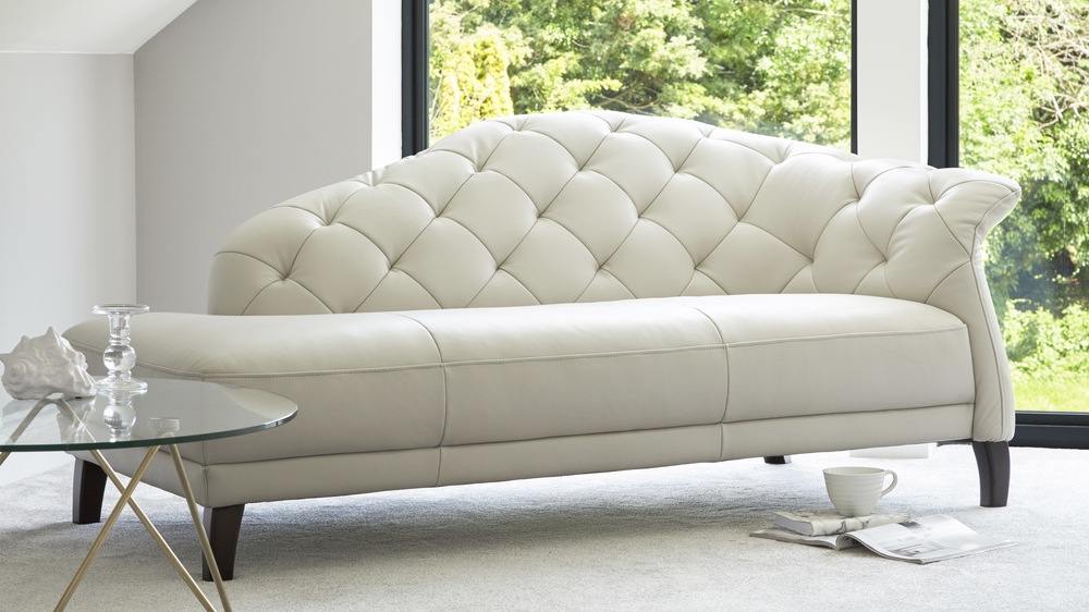 Amazing of White Leather Chaise Lounge White Leather Chaise Rich In Style Marku Home Design