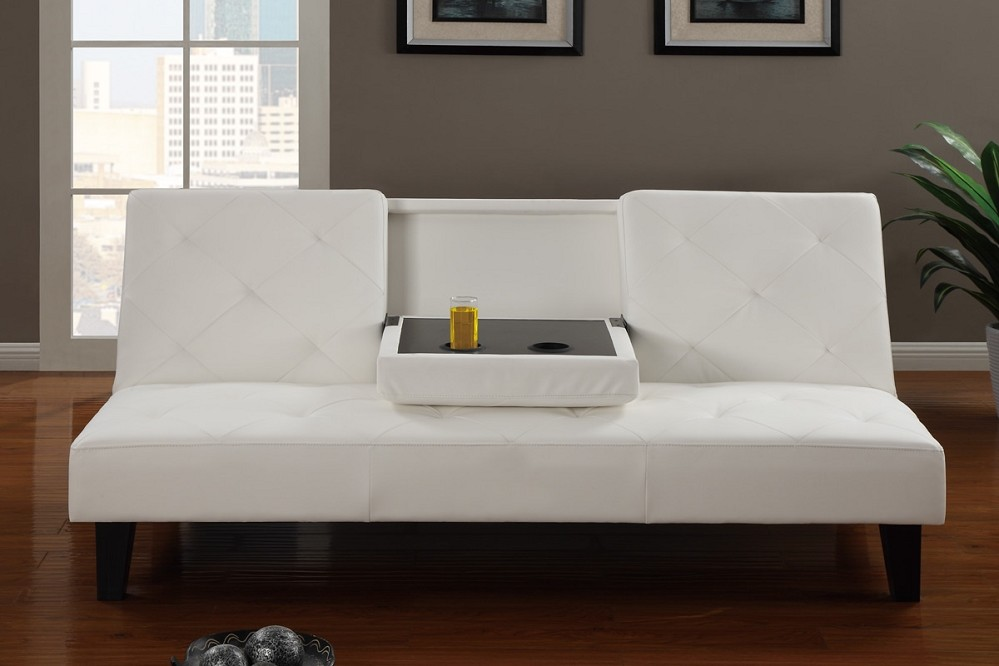Amazing of White Leather Futon Sofa Leather Futon Sofa Bed
