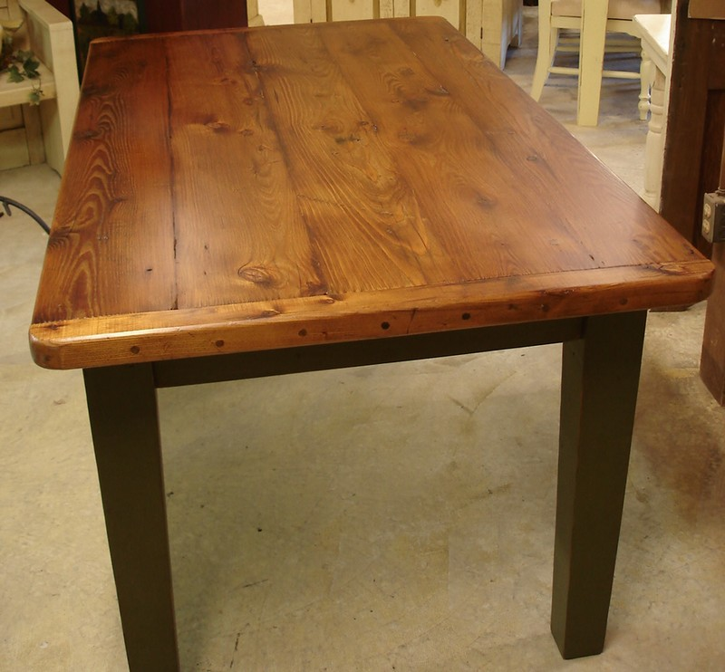 Amazing of Wooden Breakfast Table Plank Farm Table Breadboard Ends Dutchcrafters Dining Tables