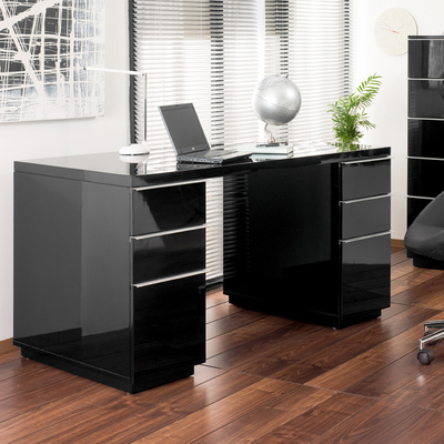 Amazing Office Black Desk Madison Office Desk Black Dwell