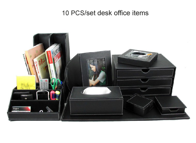 Amazing Office Desk Set Aliexpress Buy 10pcs Set Wood Leather Desk File Stationery