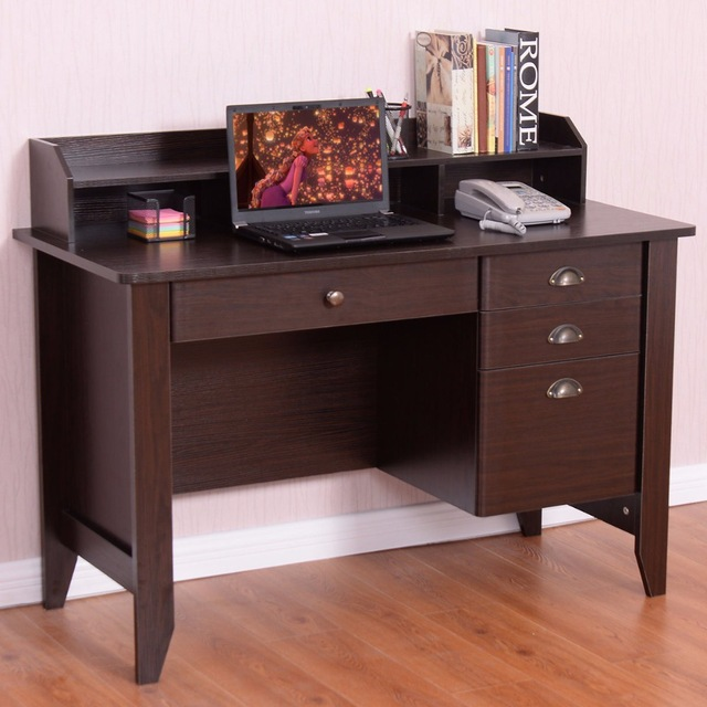 Amazing Office Table With Drawers Goplus Computer Desk Pc Laptop Writing Table Workstation Student