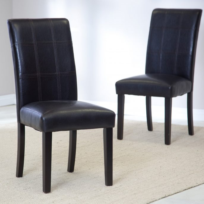 Amazing Parsons Dining Chairs With Arms Dining Room Black Windsor Dining Chairs Tufted Parsons Dining