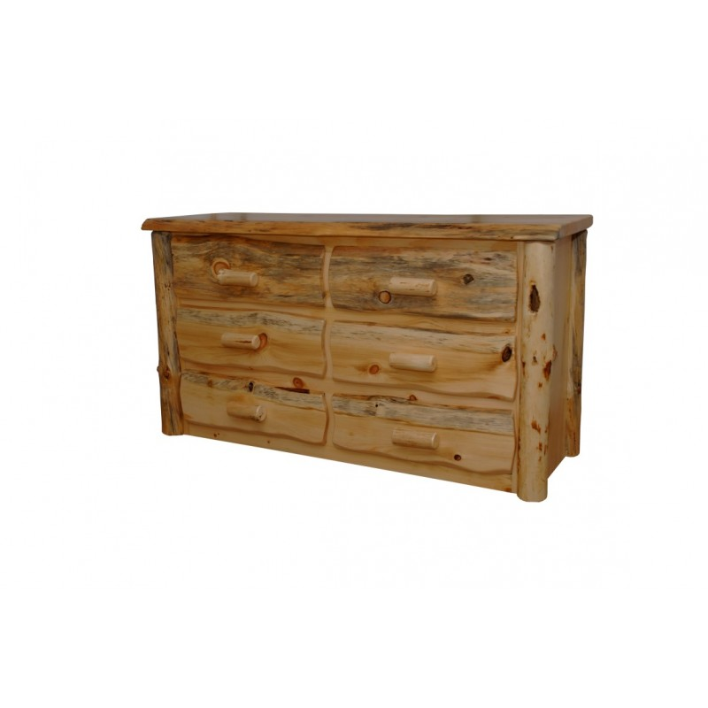 Amazing Pine 6 Drawer Dresser Rustic Pine Natural Live Edge Slab 6 Drawer Dresser
