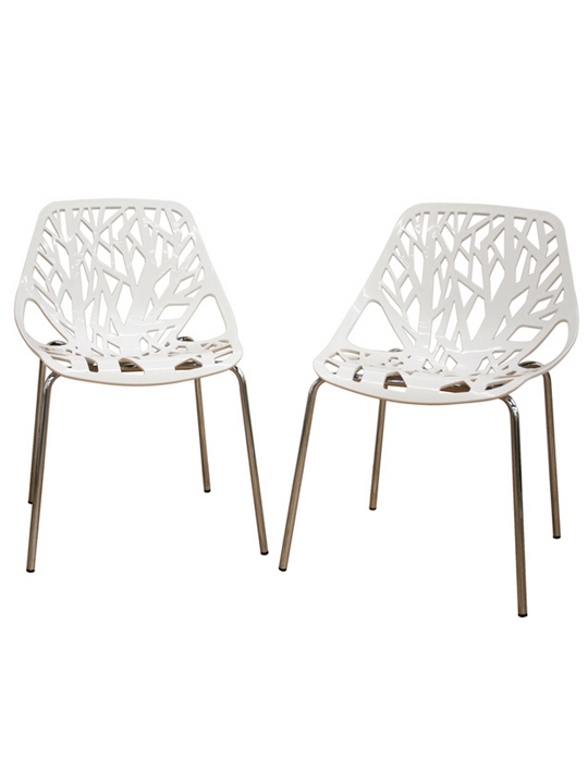 Amazing Plastic Dining Chairs Life Chair 2 Set Modern Furniture Brickell Collection